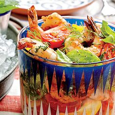Tomato Salad with Grilled Shrimp - 28 Recipes for Fresh Tomatoes - Southern Living