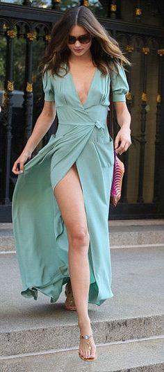 So hot! Miranda Kerr maxi dress