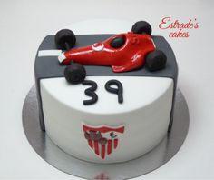 Estrade's cakes: tarta para un sevillista amante de la Fórmula 1