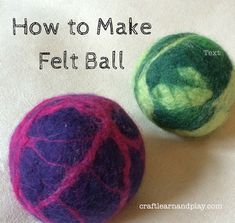How To Make Felt Ball - this is Waldorf inspired project. Take this step by step tutorial and make wonderful natural and warm toy ball for your baby. You can make as many colour combinations as you wish.