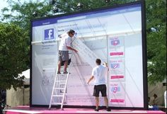 1588af2505ab T-Mobile: Taking Facebook to the Streets: artists created analog versions  of users