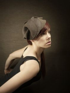 Imagine a shape similar to this in felted knits. #millinery #judithm #hats