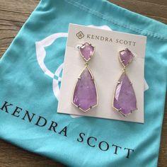 Kendra Scott Carey earrings New condition Kendra Scott carey earrings in amethyst.  $65 on ️️ Kendra Scott Jewelry Earrings