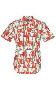 Printed Cotton Shirt by Kenzo Now Available on Moda Operandi
