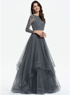 best=A Line Scoop Neck Floor Length Tulle Prom Dresses With Beading Sequins 018175941 Prom Dresses , from the ever-popular high-low prom dresses, to fun and flirty short prom dresses and elegant long prom gowns. Indian Fashion Dresses, Indian Gowns Dresses, Dress Indian Style, Prom Dresses With Sleeves, Sequin Dress With Sleeves, Indian Wedding Gowns, Chiffon Dresses, Bride Dresses, Fall Dresses
