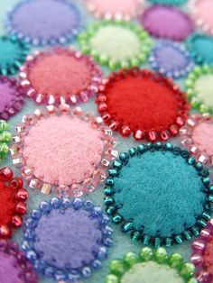 Celebrate Colour - felt art close up, via Flickr.
