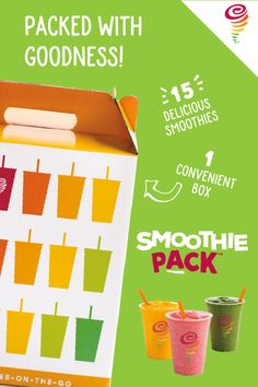 Try our fresh and healthy Smoothie Packs to wake up and energize your morning!
