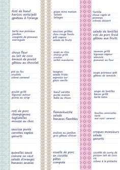 Pour les jours en manque d'inspiration .menus--janv-2013