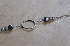 Bracelet  chaîne et anneau en laiton  perles par GustaveEtDomino  #bracelet #laiton #brass #bronze #perle #pearl #ring #anneau #bijoux #diybijoux #jewellery #jewel #etsy #diy #madeinfrance