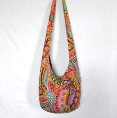 Hobo Bag Sling Bag Hippie Purse Crossbody Bag Retro door 2LeftHandz