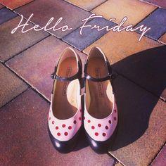 Flamenco Shoes, Happy Weekend, Flats, Fashion, Polka Dots, Street, Heels, Loafers & Slip Ons, Moda