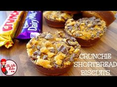 Crunchie Shortbread Biscuits - She Who Bakes