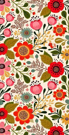 le jardin de flore 🌸 print pattern illustration