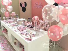 Bella's Minnie Mouse 1st birthday party | CatchMyParty.com