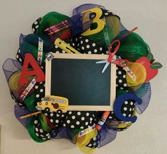 Teacher Wreath