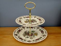 Cake Stand Bouquet Pattern by Myotts England Vintage Kitchen Baking Etsy Vintage, Vintage Items, Metal Cake Stand, Cottage Signs, Winter Painting, Landscape Walls, Hanging Wall Art, Made Goods, Earthenware