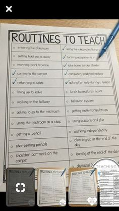 Routines/procedures to teach (elementary example) Routines/procedures to teach (elementary example) The post Routines/procedures to teach (elementary example) appeared first on School Diy. First Grade Classroom, Kindergarten Classroom, School Classroom, School Teacher, Future Classroom, Classroom Ideas, Year 1 Classroom Layout, Classroom Attendance, Classroom Checklist