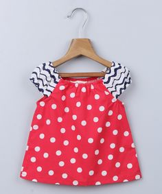 Red Polka Dot Singoalla Peasant Top - Infant, Toddler & Girls