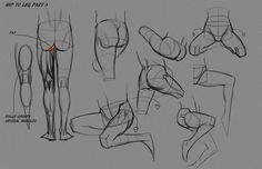 Leg Hip Notes P3 by FUNKYMONKEY1945 on deviantART http://funkymonkey1945.deviantart.com/ ★ || #concept #art #animation #anime #comics || ★