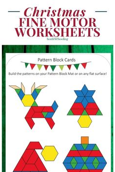 Looking for a few Christmas fine motor activities for preschoolers or kindergartners? Well today is the day for you! This includes lacing activities, tracing images and pattern blocks!