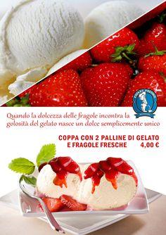 gelato con fragole fresche!!!