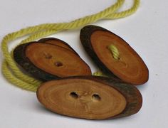 Buttons handmade from olive wood from artisan producer's garden in northern Italy. Very Country People on etsy.