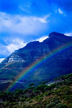 Rainbow near Table Mountain, Cape Town, South Africa