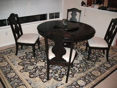 5-piece Dining Set, Rug & Mirror - $399 (Shoreline) http://seattle.craigslist.org/see/fuo/4909329602.html - This is just absolutely perfect and cute and perfect! I'm really looking way too early for furniture, but I don't care!!