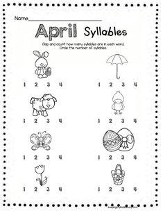 SYLLABLES - Kindergarten - Pre-K - Practice clapping and counting syllables #kindergarten #preschool