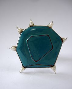 Carolina Hornauer  Brooch: What is not, Serie 2009  Silver, river pearls, wood, japanese lacquer, silver wire, steel wire