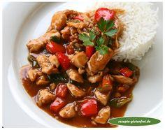 Huhn in Hoisin-Sauce 1 Teriyaki Chicken, Kung Pao Chicken, Hoisin Sauce, Wok, Carne, Chinese, Ethnic Recipes, Asian Cuisine, Asian Recipes