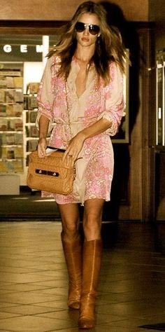 Romantic femininity, add boots for sass