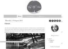 ON Sale 80 Off  Black and White V1  Blogger by Symufathemes, $5.00