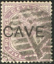 Henry William Cave came to Ceylon in 1872, at the age of eighteen, to work as the Secretary to the Archbishop of Colombo. Four years later he established a bookstore. Soon the business expanded its merchandise to include musical instruments and eventually a wide variety of other consumer goods which found a ready market amongst entertainment hungry planters. Cave returned to England in 1886, the year in which this stamp, bearing the imprint of his company was issued. Henry Williams, Secretary, Musical Instruments, Exploring, Cave, Stamps, Planters, England, Entertainment