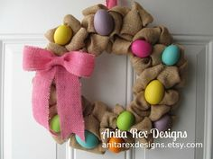 Hey, I found this really awesome Etsy listing at https://www.etsy.com/listing/181494379/easter-wreath-easter-egg-wreath-burlap