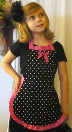 Girls Apron  Very cute and well made with one by UnderTheVeil, $19.99