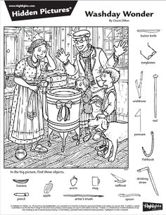 Hidden Object Puzzles, Hidden Picture Puzzles, Hidden Objects, Games To Play With Kids, Craft Activities For Kids, Worksheets For Kids, Cool Coloring Pages, Coloring Books, Highlights Hidden Pictures