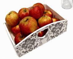 decoupage kuchenny pojemnik na owoce metoda decoupage Decoupage, Apple, Fruit, Food, Apple Fruit, Essen, Meals, Yemek, Apples