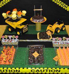 Super cute party theme idea: construction
