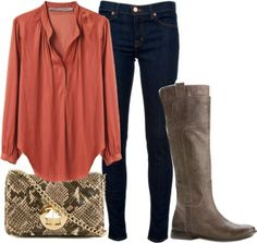 Love the shirt, have the jeans, need the boots, hate the bag