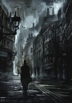 Dark Street, Kirk Quilaquil on ArtStation at http://www.artstation.com/artwork/dark-street