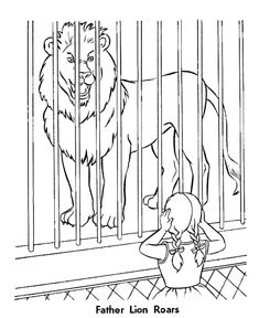 zoo animal coloring page roaring lion