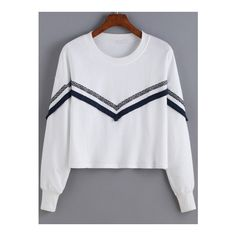 SheIn(sheinside) White Round Neck Tribal Print Sweatshirt (€14) ❤ liked on Polyvore featuring tops, hoodies, sweatshirts, white, tribal sweatshirt, tribal top, pullover sweatshirts, tribal print top and sweat tops