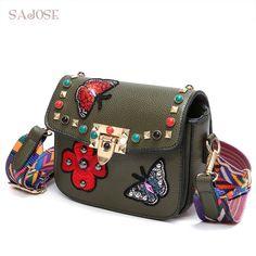 8378e8f93aef SAJOSE NEW Women Hand Bag Flowers Designer Leather Shoulder Woman s Fashion  Messenger Lady Crossbody Luxury Handbags Women Bags