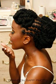 Barrel Locs Hairstyle | locs updo hairstyles pictures | loc updo | Natural Hair Styles