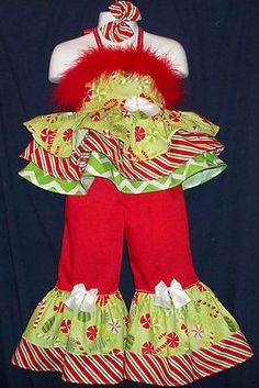 CUSTOM NATIONAL XMAS CANDY PAGEANT CASUAL WEAR 3T 4T
