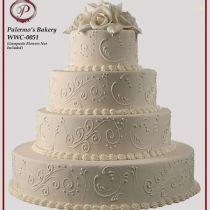 ivory scroll cake