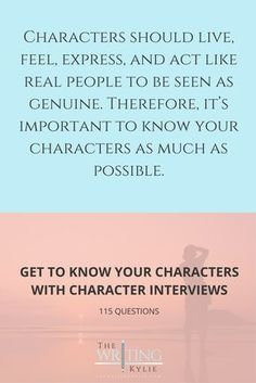 character interview questions