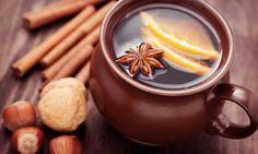 Cinnamon tea, lemon and star anise