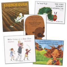 Bilingual 5-Book Sets feature both English and the featured language on each page. Choose the language and expose children to other cultures!